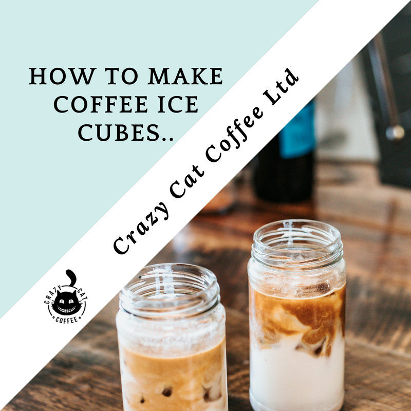 How do you make coffee ice cubes?