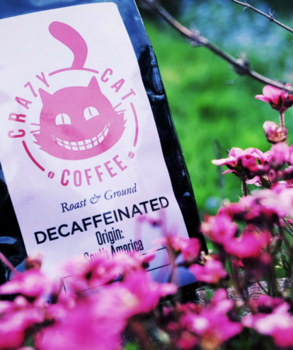 Buy decaf ground coffee from Crazy Cat Coffee